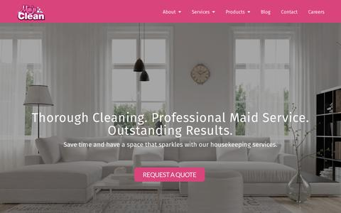 Screenshot of Home Page missesclean.ca - Miss'es Clean   Professional housekeeping services in the Niagara Region - captured Sept. 20, 2018