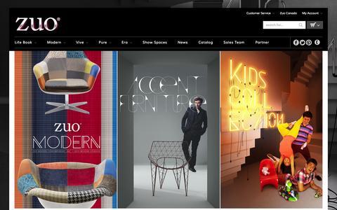 Screenshot of Home Page zuomod.com - Zuo Modern Contemporary, Inc. - captured Sept. 19, 2014