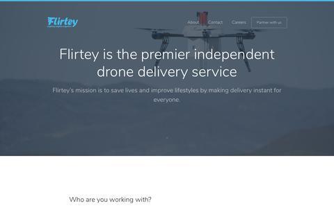 Screenshot of About Page flirtey.com - About   Flirtey - captured Aug. 16, 2018