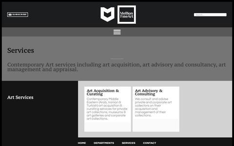 Screenshot of Services Page mellionart.com - Art Services - Mellion Fine Art - captured Oct. 17, 2018