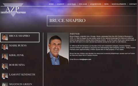 Screenshot of Team Page azpre.com - Real Estate Investing in Phoenix | Retail Property Investment Arizona | Arizona Partners - captured Nov. 21, 2016