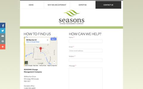 Screenshot of Privacy Page Contact Page seasonscmc.com - Contact Us - captured Oct. 27, 2014