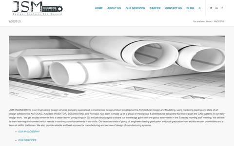 Screenshot of About Page jsmengineering.net - ABOUT US |DRAFTING SERVICES|ENGINEERING CAD SERVICES - captured Feb. 4, 2016