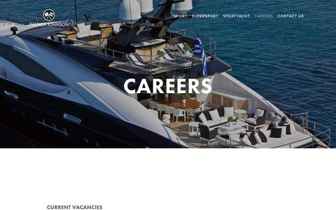 Screenshot of Jobs Page palmerjohnson.com - CAREERS — Palmer Johnson Yachts | SportYachts | SuperYachts - captured March 23, 2019