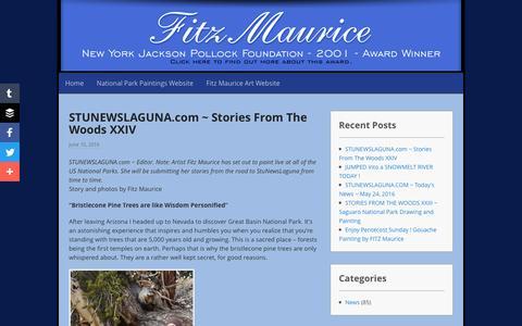Screenshot of Blog fitzmauriceart.com - Fitz Maurice Art Blog - captured June 14, 2016