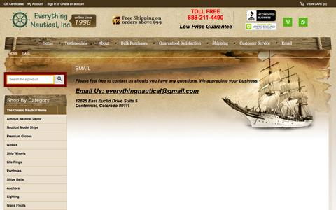 Screenshot of Contact Page everythingnautical.com - Contact - captured Feb. 18, 2016