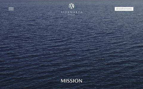 Screenshot of About Page altamareagroup.com - Altamarea Group | Mission - captured Nov. 28, 2018