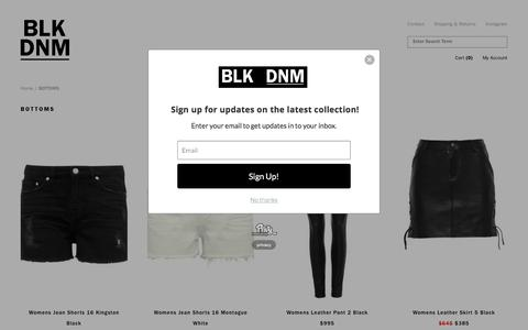 BOTTOMS - DENIM SHORTS — BLK DNM