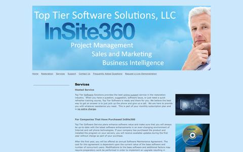 Screenshot of Services Page toptiersoftwaresolutions.com - Top Tier Software Solutions - Services - captured Oct. 27, 2017