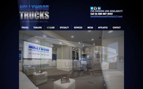 Screenshot of Home Page hollywoodtrucksllc.com - Hollywood Trucks LLC - captured Jan. 23, 2015