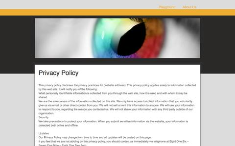 Screenshot of Privacy Page jimdo.com - Privacy Policy - Family Safe Playgrounds for Children - captured Nov. 22, 2016