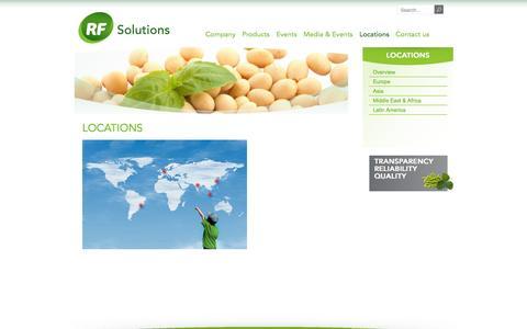 Screenshot of Locations Page rfseu.com - Locations - RF Solutions - captured Oct. 26, 2014
