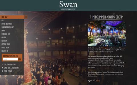 Screenshot of Case Studies Page loveswan.co.uk - Case Studies - The Swan - captured Oct. 7, 2014