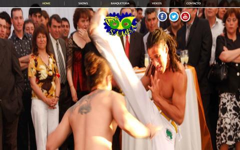 Screenshot of Home Page prosamba.cl - Pro Samba:  Shows, Banqueteria, Matrimonios, Carnes a la Espada, Capoeira, Mulatas, Batucada - captured Oct. 3, 2014