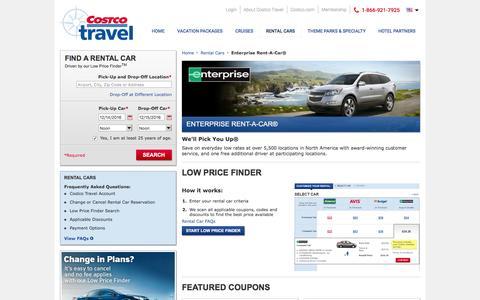 Enterprise Rent-A-Car® at Costco Travel