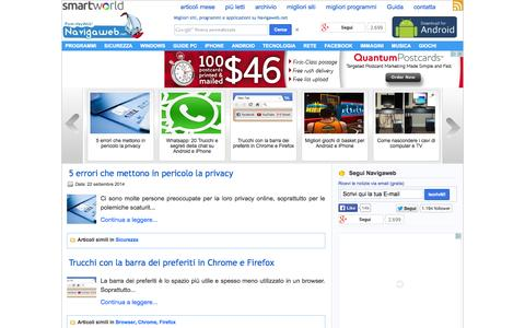 Screenshot of Home Page navigaweb.net - Pom-HeyWEB! Navigare i migliori siti internet su Navigaweb.net - captured Sept. 18, 2014