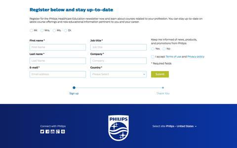 Screenshot of Landing Page philips.com - Healthcare   Philips - captured June 30, 2017