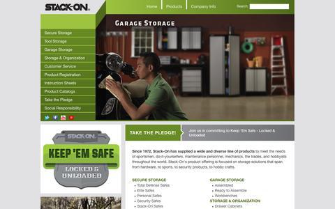 Screenshot of Home Page stack-on.com - Stack-On - captured Sept. 23, 2014
