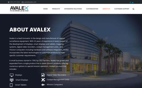 Screenshot of About Page avalex.com - About Us - Avalex Technologies - captured Dec. 27, 2015
