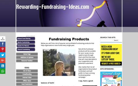 Screenshot of Products Page rewarding-fundraising-ideas.com - Fundraising Products - Rewarding Fundraising Ideas - captured Aug. 25, 2016