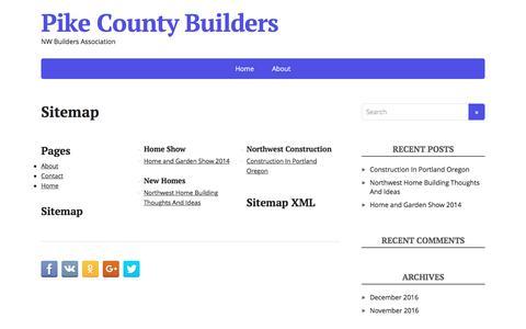 Screenshot of Site Map Page pikecountybuilders.com - Sitemap - Pike County Builders - captured Jan. 30, 2017