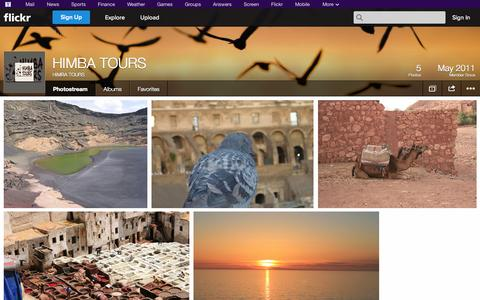 Screenshot of Flickr Page flickr.com - Flickr: HIMBA TOURS' Photostream - captured Oct. 22, 2014