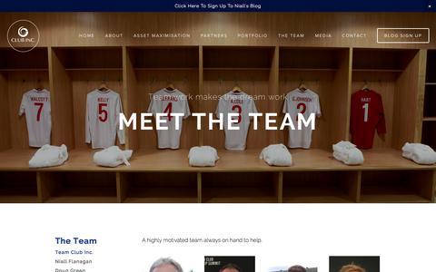 Screenshot of Team Page clubincorporated.com - Team Club Inc. — Club Inc. - captured Oct. 2, 2014