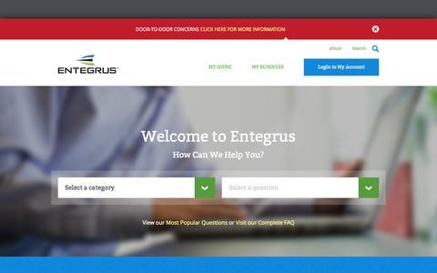 Screenshot of Home Page entegrus.com - Entegrus - captured Oct. 2, 2014