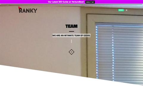 Screenshot of Team Page ranky.co - Team | Ranky - captured Oct. 31, 2014