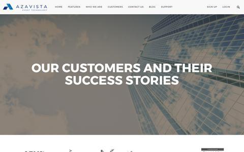 Screenshot of Case Studies Page azavista.com - Case studies – Azavista - captured May 31, 2017