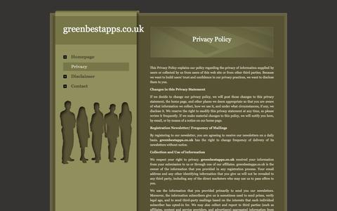 Screenshot of Privacy Page certificazioneenergeticaonline.com - greenbestapps.co.uk - captured Sept. 25, 2018