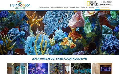 Screenshot of Home Page livingcolor.com - Large Custom Aquariums  Living Color Aquariums - captured Sept. 19, 2015