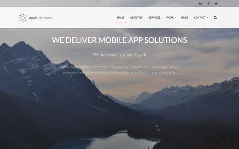Screenshot of Home Page appitventures.com - AppIt Ventures | Denver Mobile Apps | Denver Mobile App Development - captured Dec. 4, 2015
