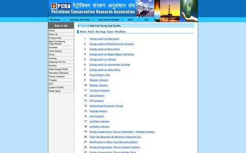 Screenshot of Case Studies Page pcra.org - Welcome to PCRA.org - captured Oct. 2, 2014