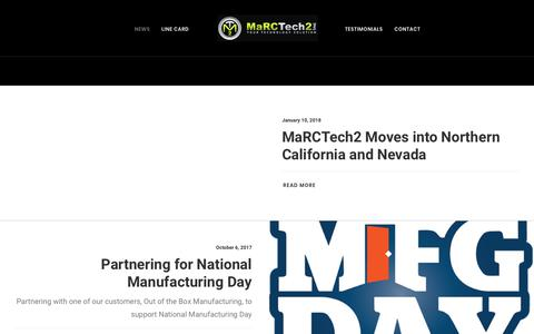 Screenshot of Press Page marctech2.com - Blog Full-Width Lateral – MaRCTech2, Inc. - captured July 27, 2018