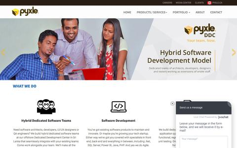Screenshot of Case Studies Page Testimonials Page pyxle.net - Offshore Services | Offshore Services Sri Lanka | Pyxle Sri Lanka - captured Sept. 10, 2016