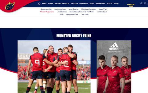 Screenshot of Signup Page munsterrugby.ie - Munster Rugby | Munster Rugby Ezine - captured Oct. 21, 2017