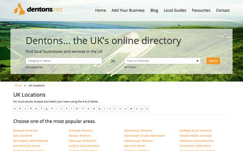 Screenshot of Locations Page dentons.net - Search for a UK business in Locations with the all new dentons.net - captured June 25, 2017