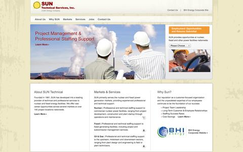 Screenshot of Home Page suntechnical.com - Sun Technical - captured Oct. 3, 2014
