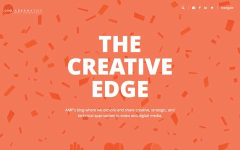 Screenshot of Blog amediapro.com - The Creative Edge | AMP - captured Nov. 20, 2016