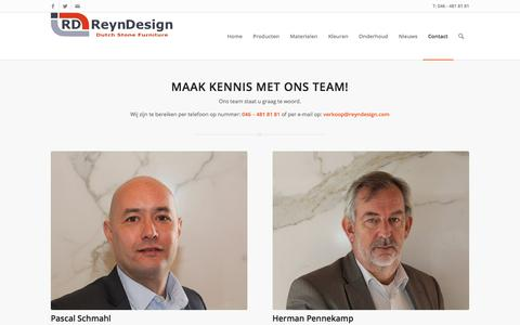 Screenshot of Team Page reyndesign.nl - Ons team - ReynDesign | Dutch Stone Furniture - captured Jan. 26, 2018
