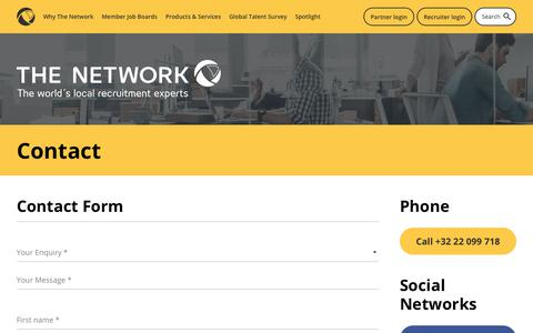 Screenshot of Contact Page the-network.com - Contact - The Network - captured Dec. 12, 2018