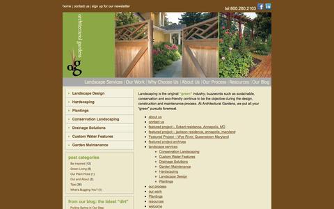 Screenshot of Site Map Page arch-gardens.com - Landscaping Annapolis Landscaper Landscape Design Annapolis Maryland - captured Oct. 4, 2014