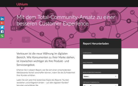Screenshot of Landing Page lithium.com - Mit dem Total-Community-Ansatz zu einer besseren Customer Experience | Lithium Resources - captured Oct. 23, 2016