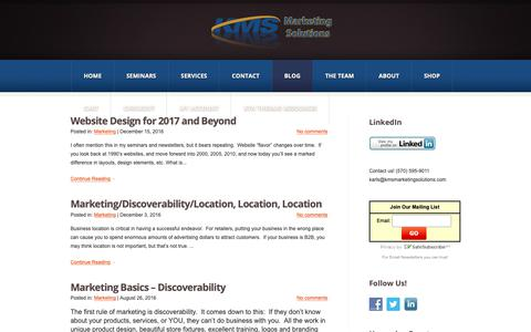 Screenshot of Blog kmsmarketingsolutions.com - Blog | KMS Marketing Solutions - captured Oct. 14, 2018