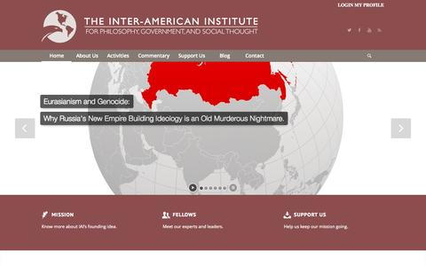 Screenshot of Home Page theinteramerican.org - The Inter American Institute | - captured Oct. 8, 2015