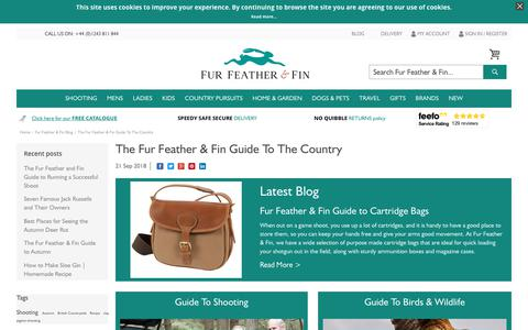 Screenshot of Blog furfeatherandfin.com - The Fur Feather & Fin Guide To The Country | Fur Feather and Fin - captured Oct. 11, 2018