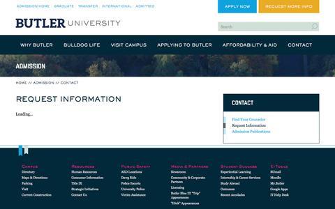 Request Information | Butler.edu