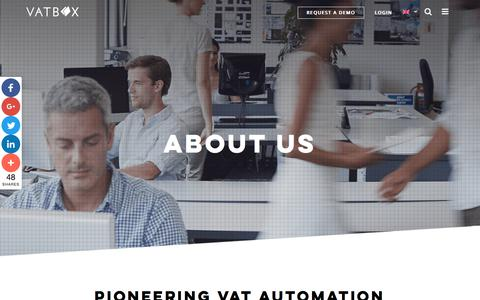 Screenshot of About Page Team Page vatbox.com - About us - VATBox - captured Nov. 11, 2017