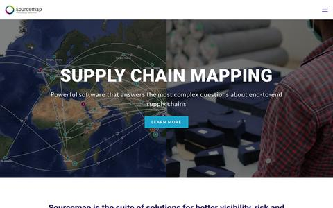 Screenshot of Home Page sourcemap.com - Supply Chain Mapping - captured March 12, 2018